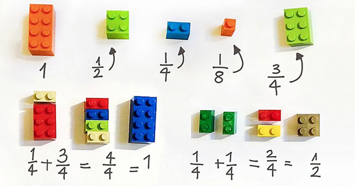 Banalnie prosty sposób na naukę ułamków, wystarczą klocki Lego. Twoje dziecko będzie zachwycone!