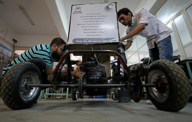 Grupa studentów opracowała pojazd napędzany sprężonym powietrzem