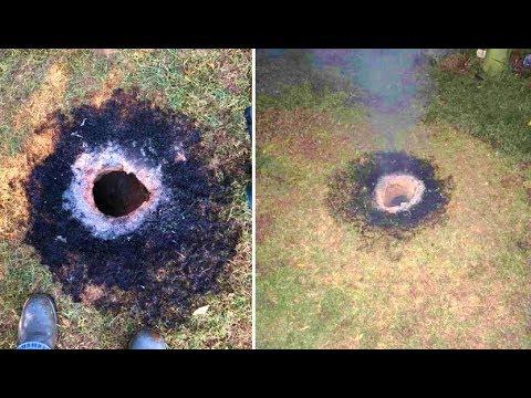 W Arkansas nagle pojawiła się dziura w ziemi, a później przez 40 minut buchał z niej płomień