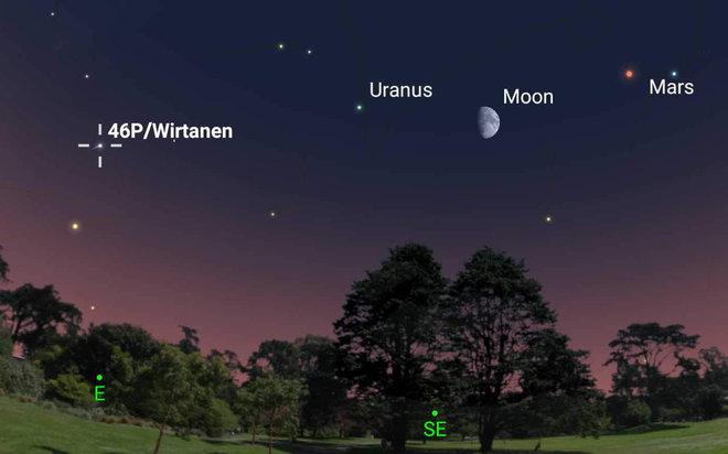 Na nocnym niebie pojawił się wyjątkowy gość. Kometa 46P/Wirtanen po raz kolejny zbliży się do Ziemi