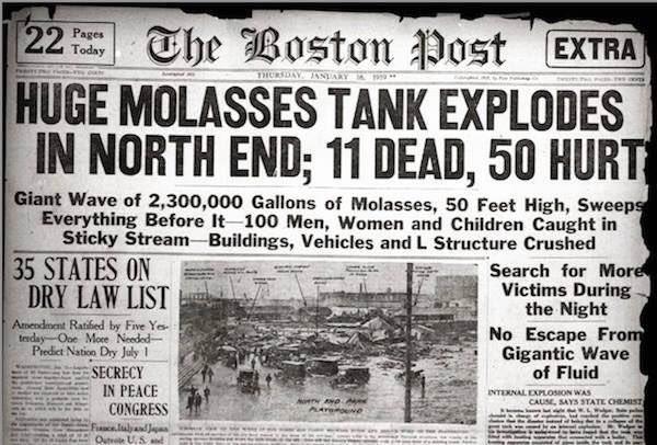 Wielka powódź melasy w Bostonie, czyli jeden z najdziwniejszych incydentów w historii