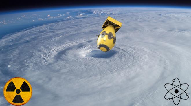 Zrzucenie bomby atomowej na huragan