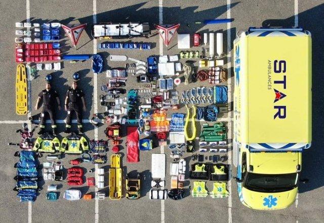 Co znajduje się w pojazdach różnych służb ratowniczych z całego świata? Ilość sprzętu zdumiewa