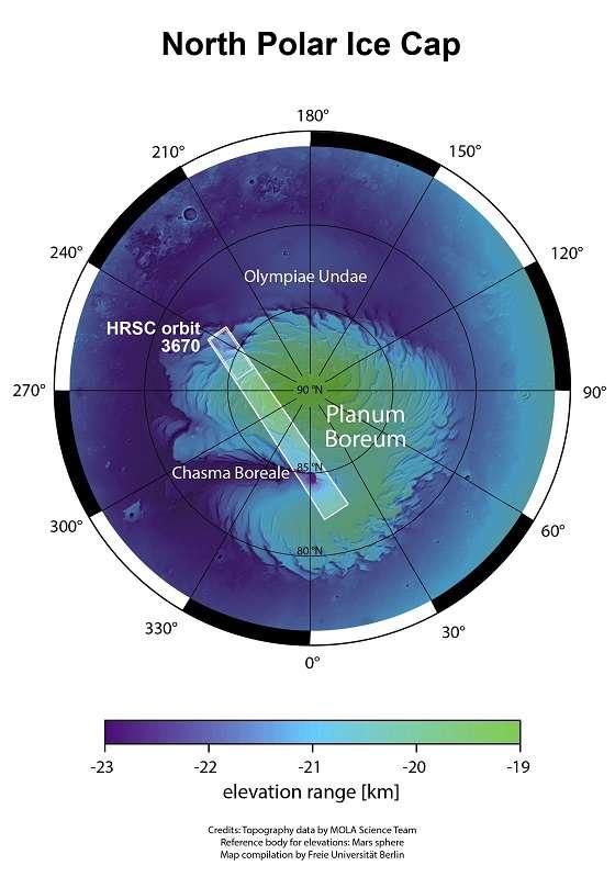 biegun północny Marsa