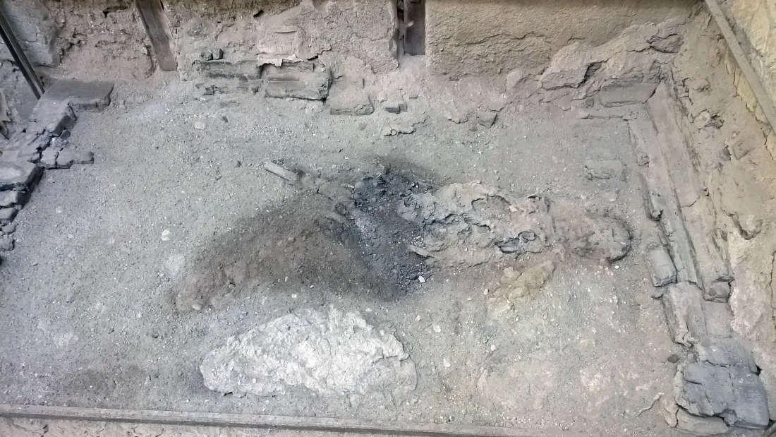Podczas wybuchu Wezuwiusza, mózg jednej osoby dosłownie zamienił się w szkło
