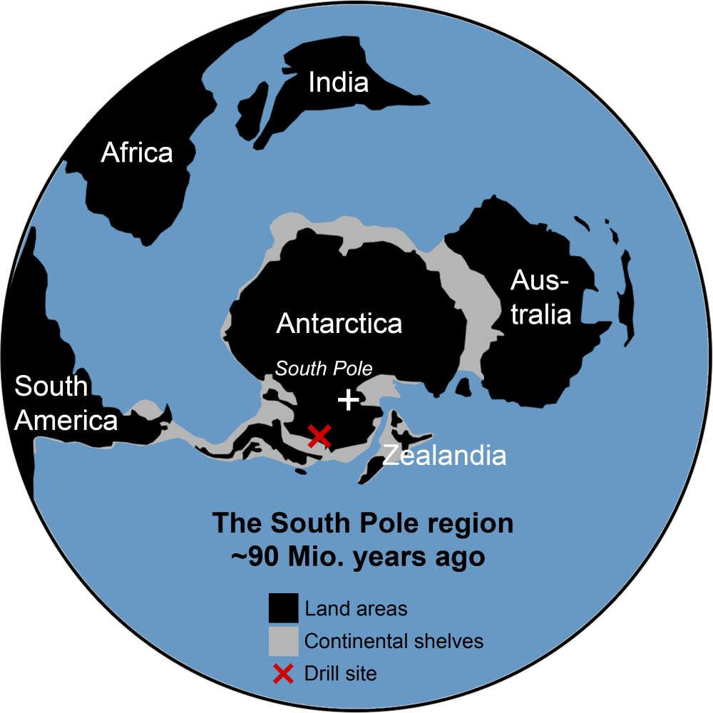Analizy gleby sugerują, że 90 milionów lat temu Antarktyda była porośnięta lasem deszczowym