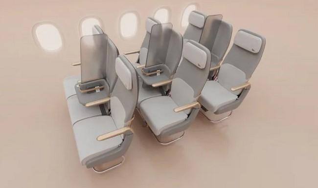 Firma zmienia środkowe siedzenia samolotów w przegrodę, by chronić pasażerów przed koronawirusem