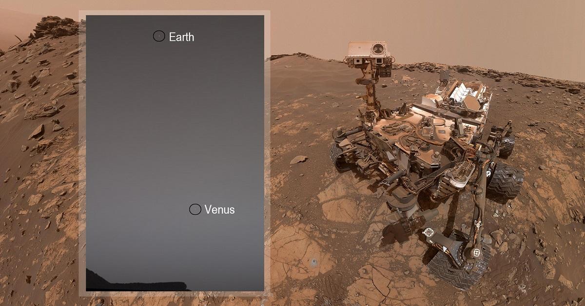 Łazik Curiosity uchwycił oszałamiające zdjęcie Ziemi i Wenus z powierzchni Czerwonej Planety