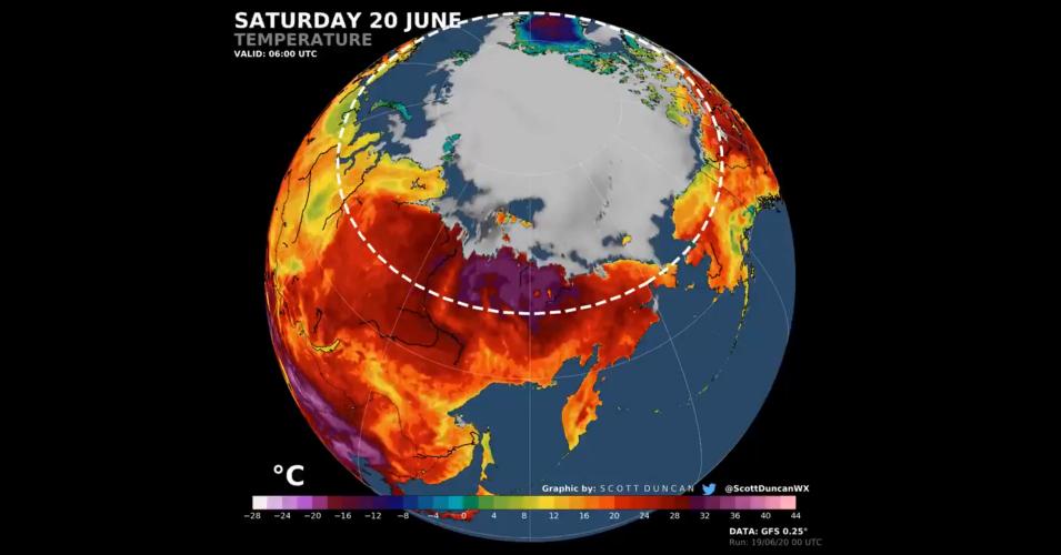 Rekordowe upały – termometry w Kole Podbiegunowym pokazały 38° Celsjusza