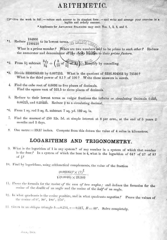 Kilka pytań z egzaminu wstępnego na Harvard w 1869 roku. Uda ci się na nie odpowiedzieć?