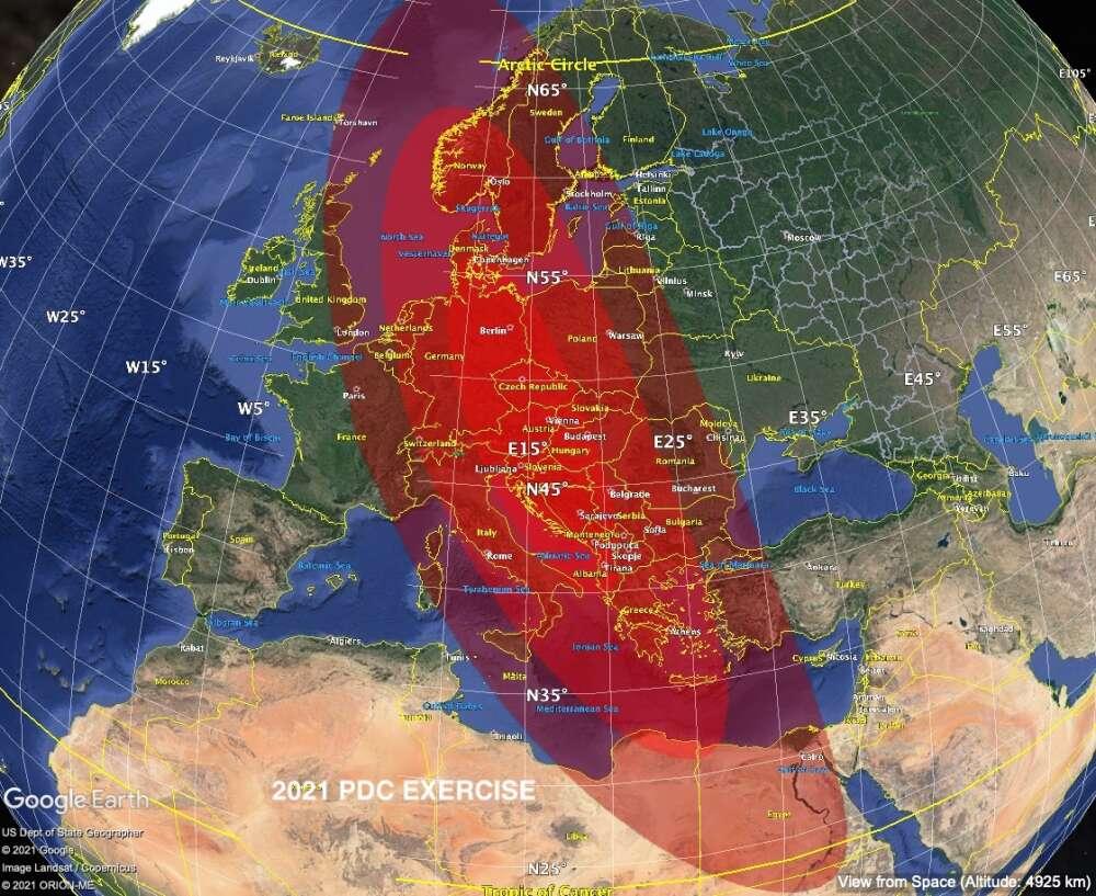 Z symulacji NASA wynika, że uderzenie asteroidy unicestwiłoby znaczną część Europy