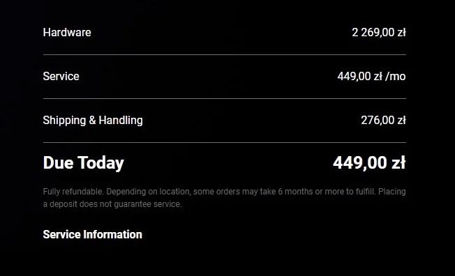 Internet Elona Muska, Starlink, dostępny w Polsce. Cena usługi jest naprawdę kosmiczna
